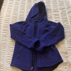 North Face zip up with hood.